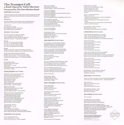 The Trumpet Call - The Dave Markee Band (1985)i