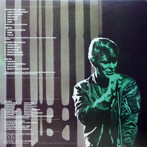 DAVID BOWIE - STAGE (1978) B