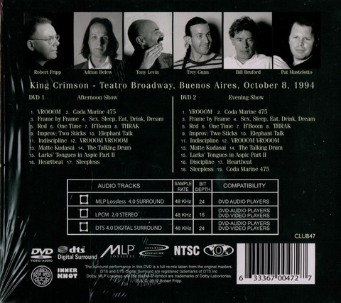 King Crimson - Live in Argentina 1994 (2012) 2DVD b