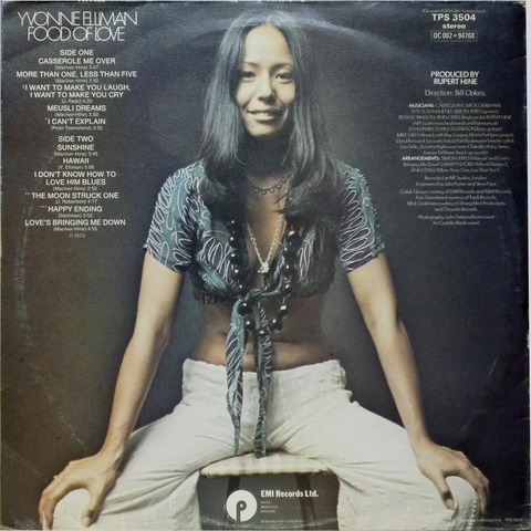 YVONNE ELLIMAN - FOOD OF LOVE (1973) B