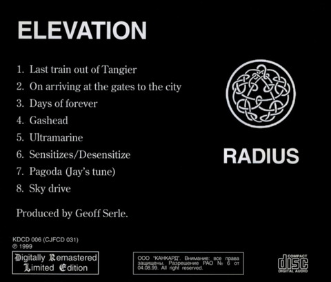 RADIUS - ELEVATION b