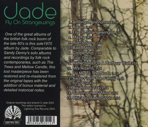 Jade - Fly On Strangewings (1970) CD (2003) b