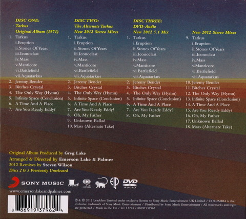 EMERSON LAKE AND PALMER - TARKUS Deluxe Edition (2012) 2CD+DVD b