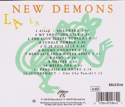 WEST INDIA COMPANY - NEW DEMONS (1989) B
