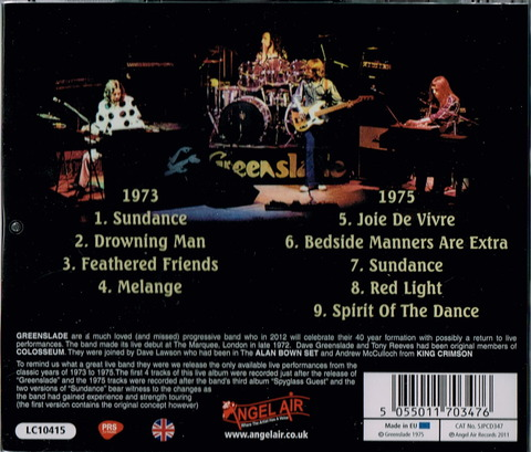 Greenslade Live 1973-1975 (2011 remaster) b
