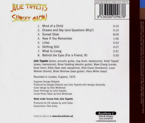 JULIE TIPPETTS - SUNSET GLOW (1975), Reissue CD (2000) b