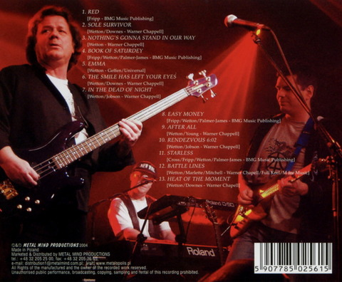 JOHN WETTON - AGENDA (2004) B