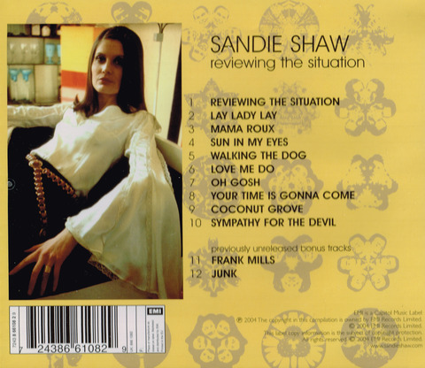 SANDIE SHAW - REVIEWING THE SITUATION (1969) back2