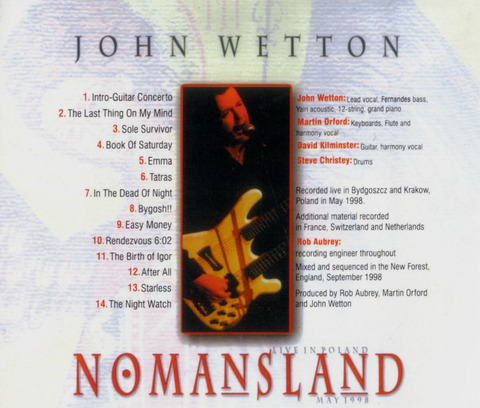 JOHN WETTON - NOMANSLAND (1999) B