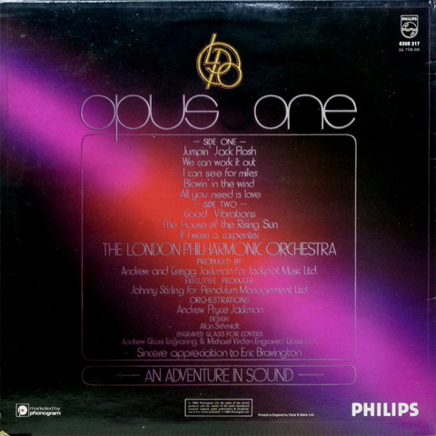 THE LONDON PHILHARMONIC ORCHESTRA - OPUS ONE (1980) B