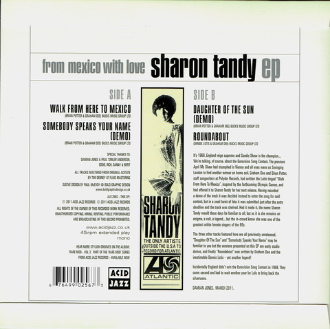 SHARON TANDY - FROM MEXICO WITH LOVE BACK