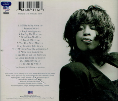Ruby Turner - Call Me By My Name (1998) b BB