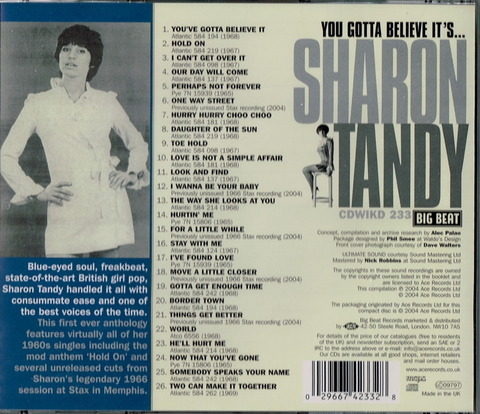 SHARON TANDY - You Gotta Believe It's b