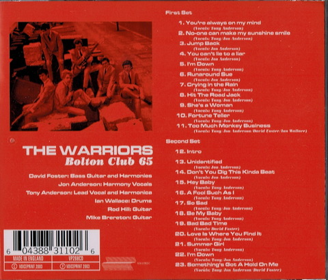 THE WARRIORS - Bolton Club 65 B