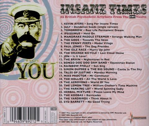 INSANE TIMES - 25 British Psychedelic (2007) b