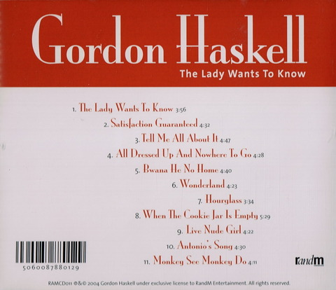 GORDON HASKELL - The Lady Wants To Know (2004) b