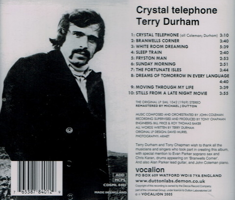 Terry Durham - Crystal telephone (1969), reissue CD (2005) b