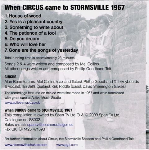 When CIRCUS came to STORMSVILLE 1967 b
