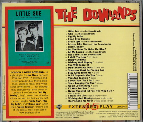 THE DOWLANDS - ALL MY LOVING b