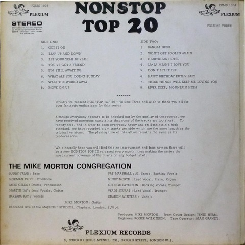 THE MIKE MORTON CONGREGATION NONSTOP TOP 20 volume 3B