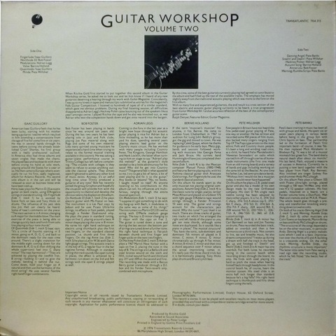 GUITAR WORKSHOP VOLUME TWO (1976) B