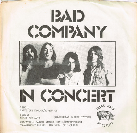 BAD COMPANY - IN CONCERT SLEAVE