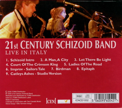 21st CENTURY SCHIZOID BAND - LIVE IN ITALY (2005) B