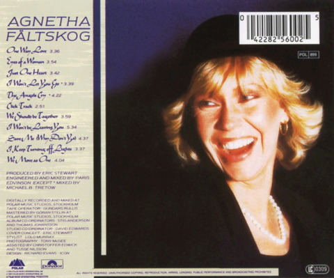 Agnetha Faltskog - Eyes Of A Woman (1985) b