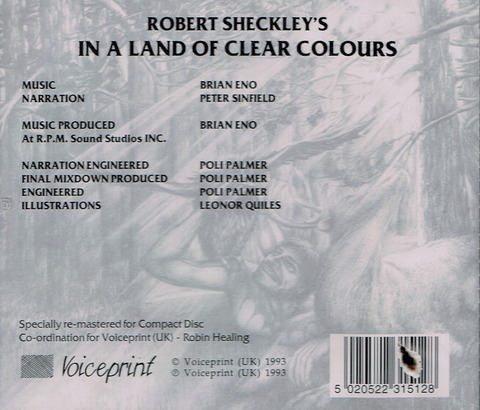 ROBERT SHECKLEY'S IN A LAND OF CLEAR COLOURS (1979), CD (1993) B
