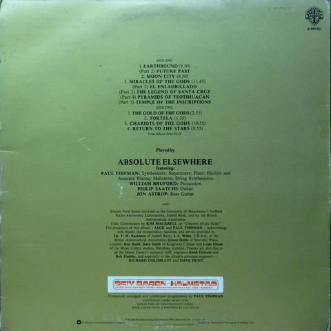 ABSOLUTE ELSEWHERE - IN SEARCH OF ANCIENT GODS (1976) B