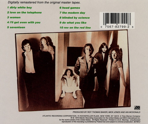 FOREIGNER - HEAD GAME (1979) CD (1995) b