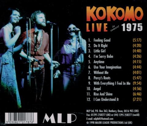 KOKOMO LIVE in concert 1975 (1998) B