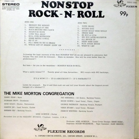 THE MIKE MORTON CONGREGATION - NONSTOP ROCKNROLL B