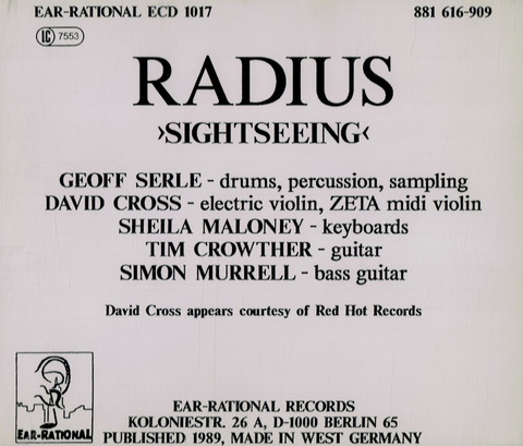 RADIUS - SIGHTSEEING (1989) CD B