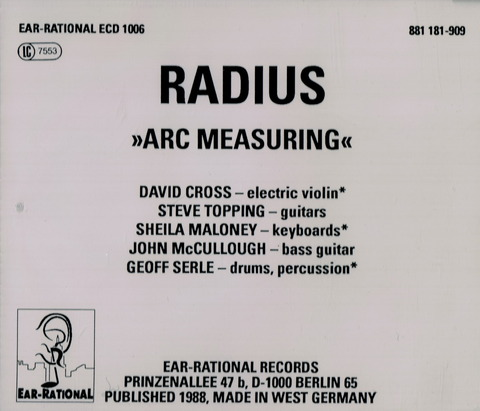 RADIUS - ARC MEASURING (1988) CD b