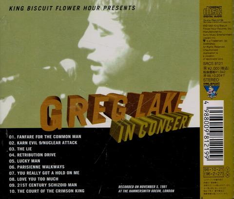 GREG LAKE - IN CONCERT (1995) B