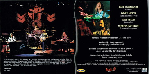 Greenslade Live 1973-1975 (2011 remaster) i