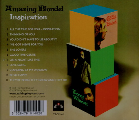 Amazing Blondel - Inspiration (1975) Reissue CD (2009) b