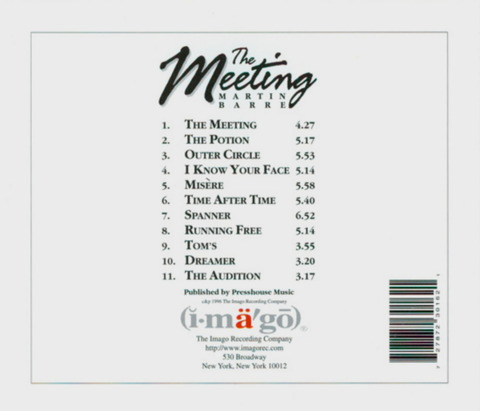 MARTIN BARRE - The Meeting (1996) b