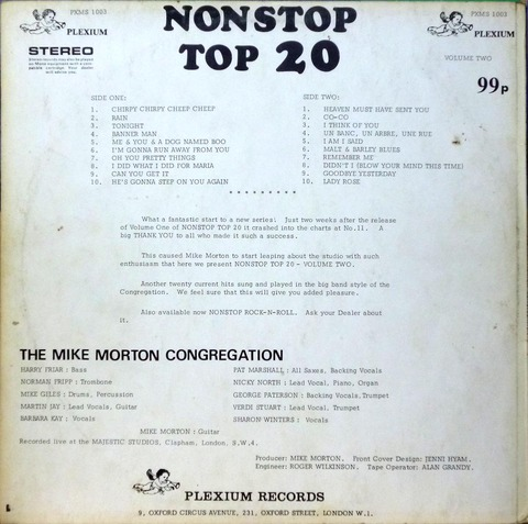 THE MIKE MORTON CONGREGATION NONSTOP TOP 20 volume 2b