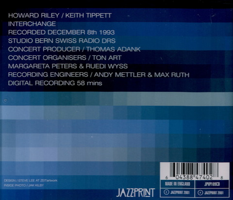 HOWARD RILEY - KEITH TIPPETT - interchange (2001) B