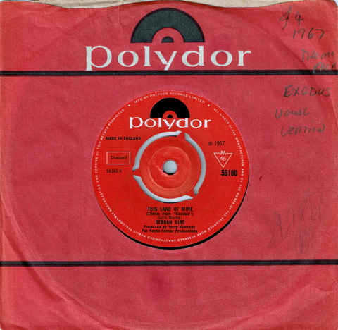 DEBRAH AIRE - THIS LAND OF MINE (Theme from Exodus) (1967)