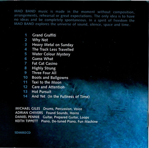 The Michael Giles Mad Band - In the Moment b