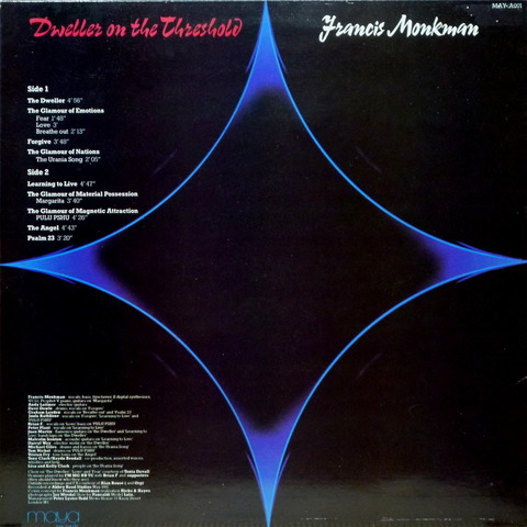 Francis Monkman - Dweller on the threshold (1981) b