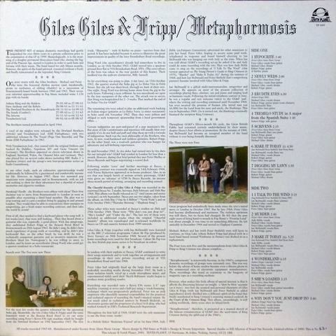 Giles Giles and Fripp - Metaphormosis (2001) b