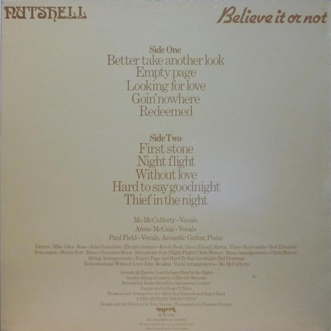 NUTSHELL Believe it or not (1979) b
