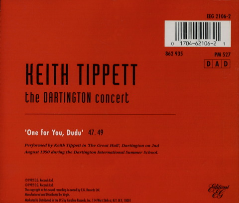 KEITH TIPPETT - the DARTINGTON concert (1992)B