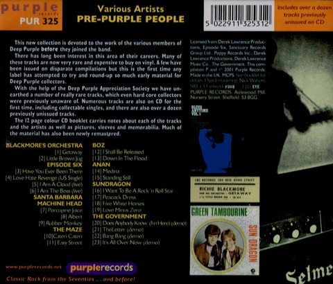 Various Artists - PRE PURPLE PEOPLE (2001) CD b