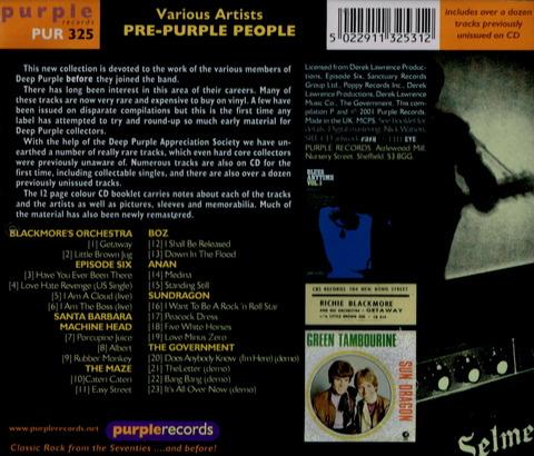Various Artists - PRE PURPLE PEOPLE (2001) CD b