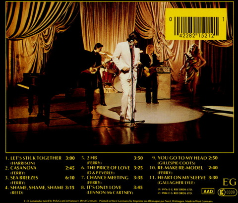 Bryan Ferry - Let's Stick Together (1976), CD (1984) b
